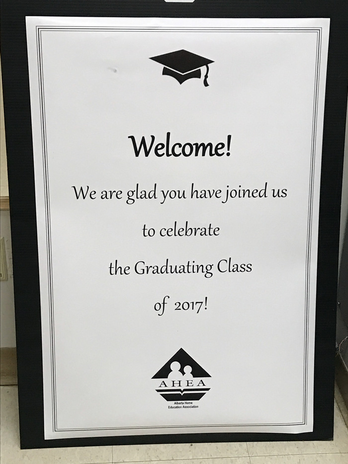 The first AHEA Home School Graduation Ceremony
