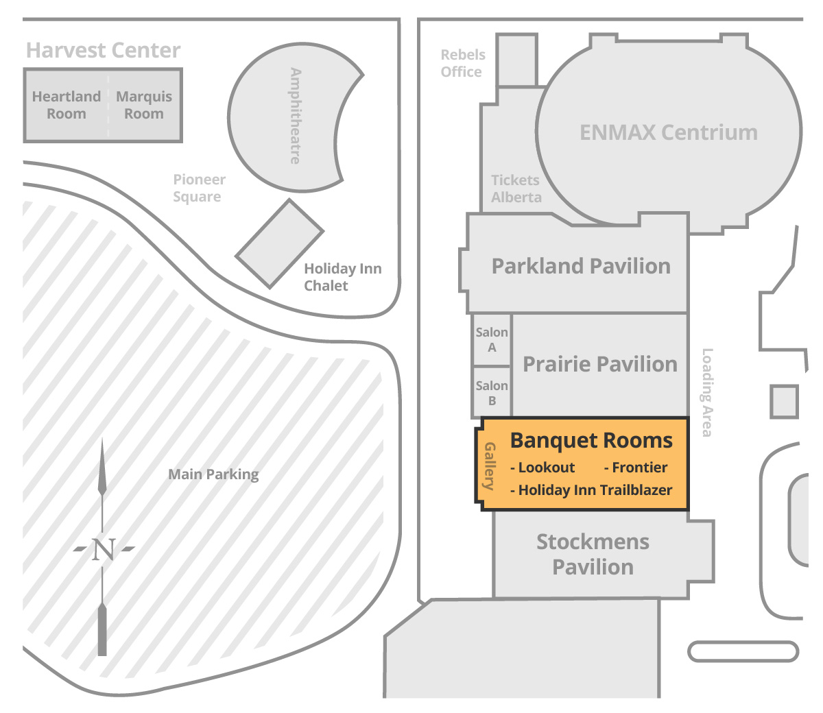 Banquet Rooms Location