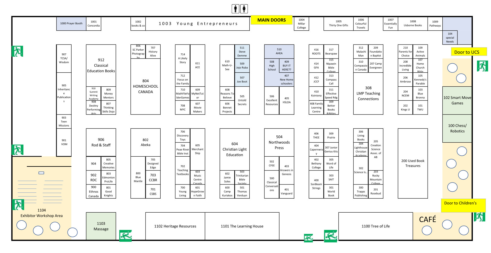 Exhibit Hall Floor Plan